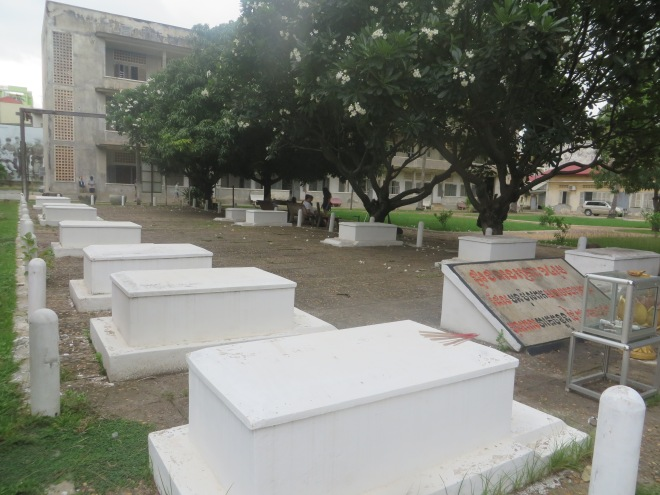 Graves of the last 13 people killed at the prison