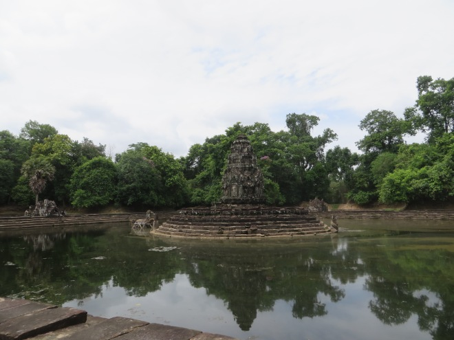 Temple surrounded by water