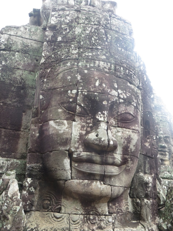 Bayon Temple with the massive heads