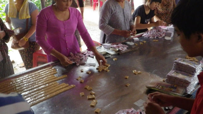 Coconut Candy Making