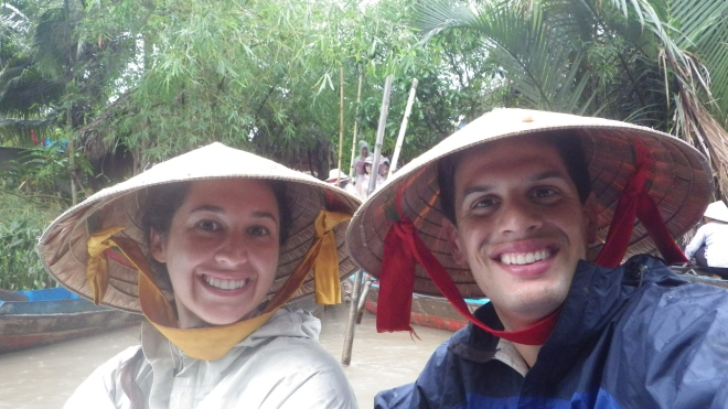Rocking awesome Vietnamese hats