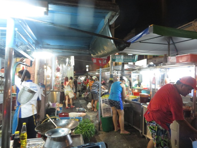 Busy merchants during the night market