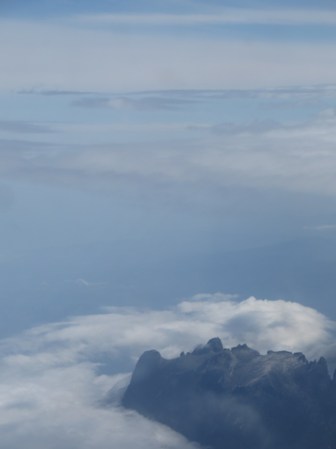 Mt. Kinabalu from our plane - largest mountain in Southeast Asia