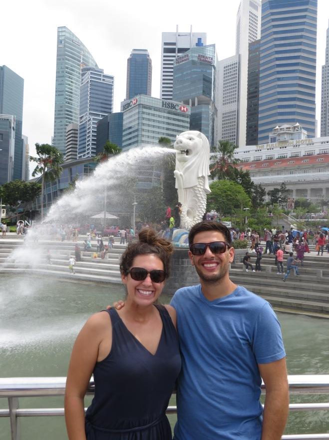 Singapore Merlion fountain