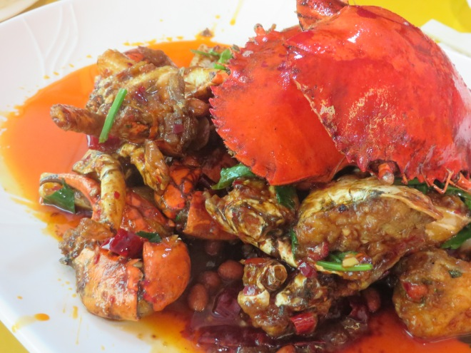 Our chili crab!