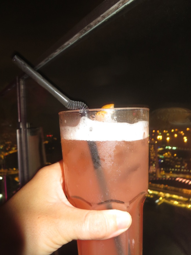 Rooftop Singapore Sling!