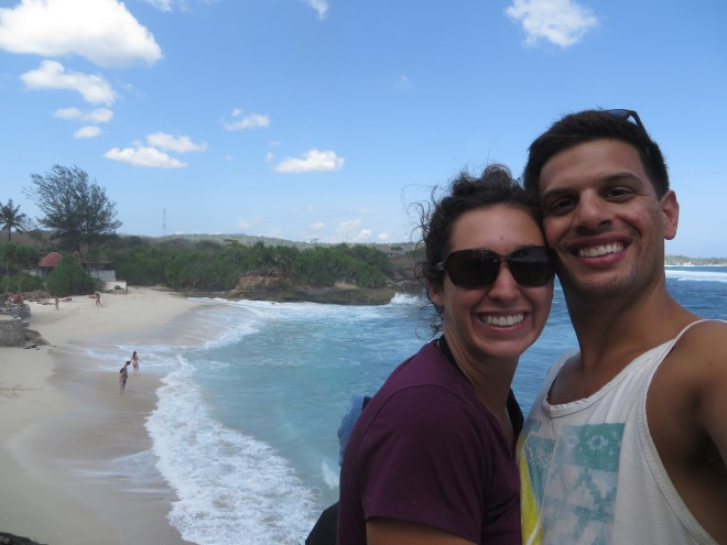 Dream beach behind us