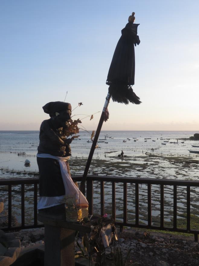 Prayer offering on the coast