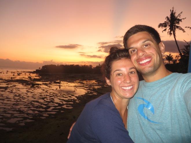 Sunset in Nusa on the last night