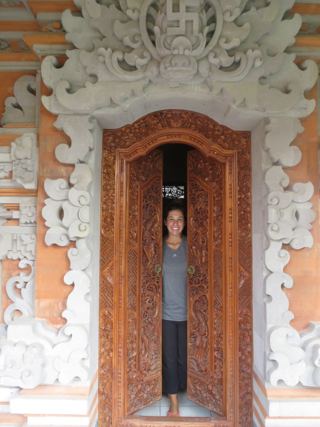 The doorway to our room!
