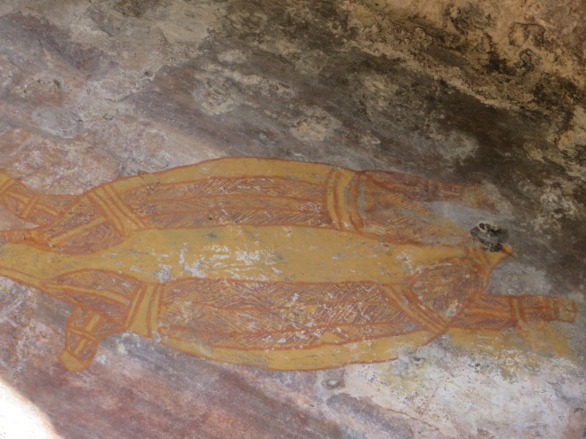 Turtle drawing found in cave