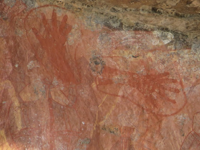 Aboriginals would 'mark' their painting with their hand print
