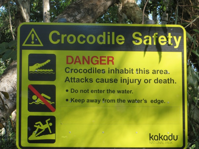 The sign posted near the river we were about to cross! Hope we dont' get stuck