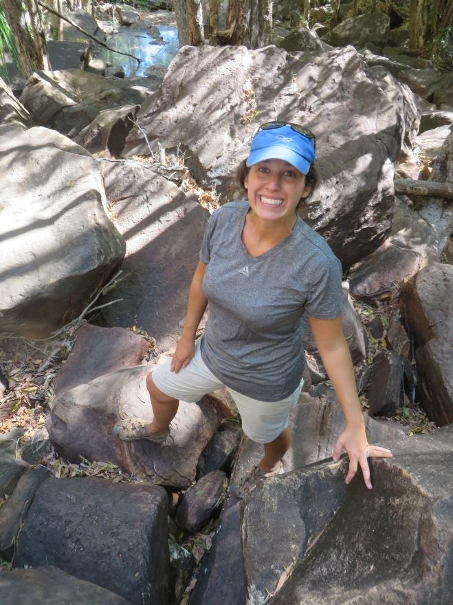 HUGE boulders to hike over Jim Jim Fall