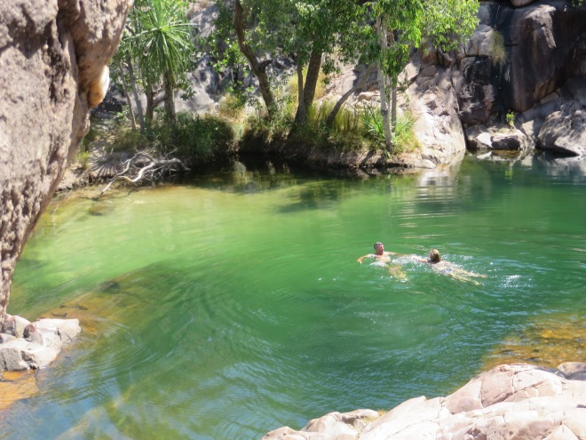 Awesome green blue water