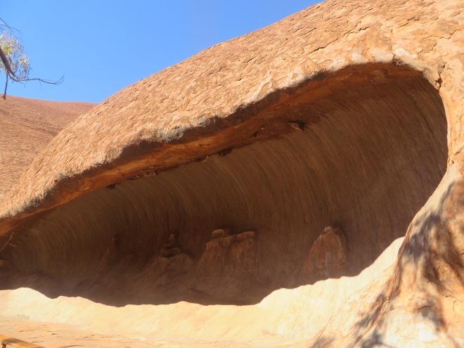 Up close with Uluru - it looks like a wave