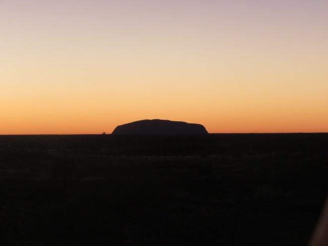 Pre-dawn light from the sunrise spot