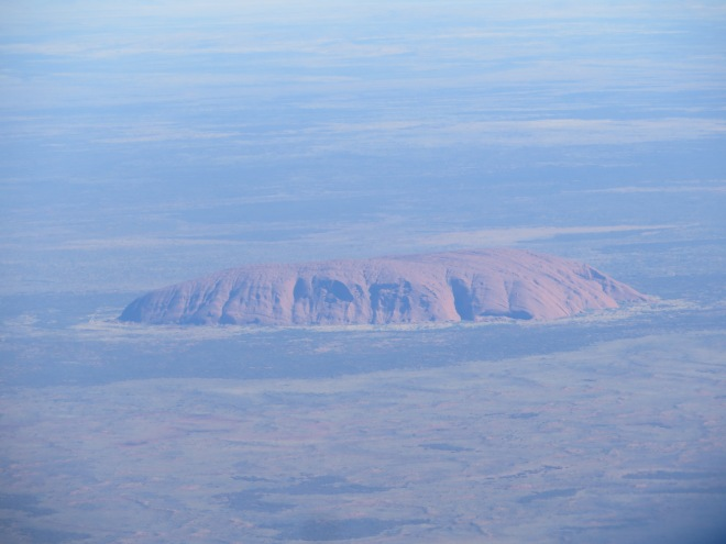 Uluru as seen from the air...it's massive!