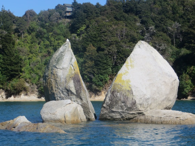 Famous rock formation off the coast