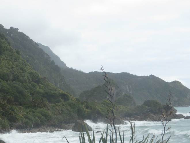 The rough west coast of New Zealand