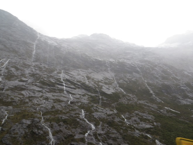 Little 'mini falls' that drip down the sides of the mountains when it rains